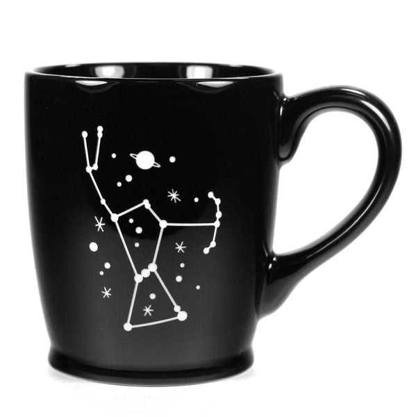 black orion constellation mug