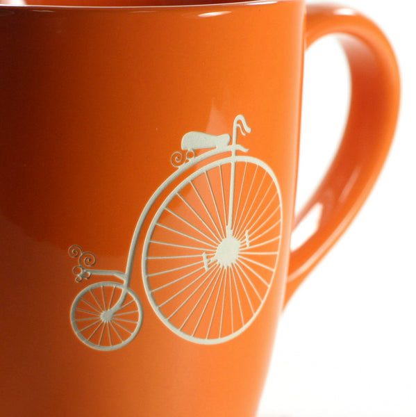 penny farthing antique bike coffee mug