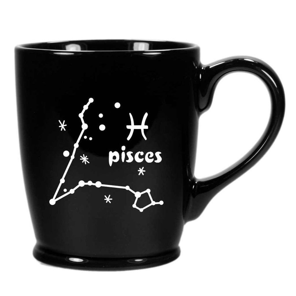 pisces constellation mug, black, by Bread and Badger