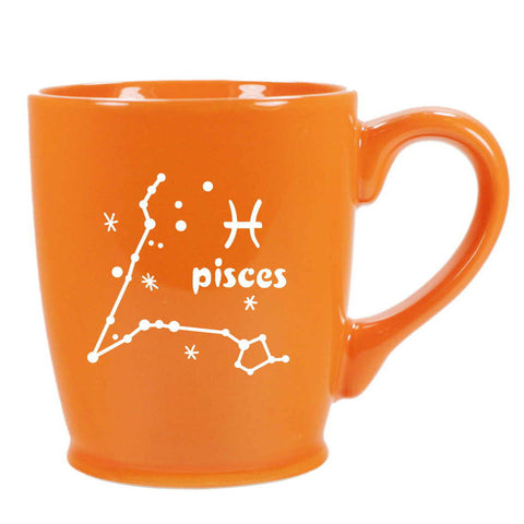 pisces constellation mug, orange, by Bread and Badger