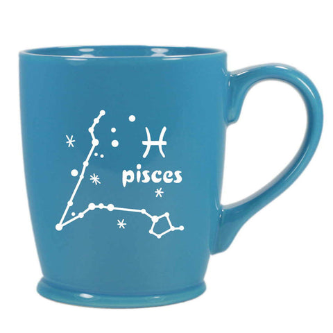 pisces constellation mug, sky blue, by Bread and Badger