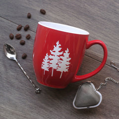 Family Tree Mug with Handle - Engraving is Dishwasher-Safe, Microwave-Safe
