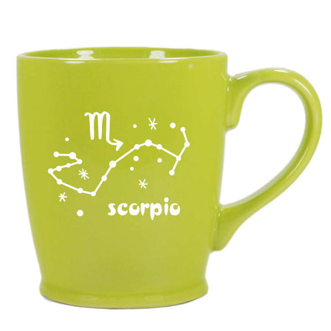 scorpio constellation mug, green, by Bread and Badger