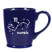 scorpio constellation mug, navy blue, by Bread and Badger