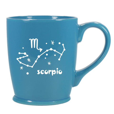 scorpio constellation mug, sky blue, by Bread and Badger