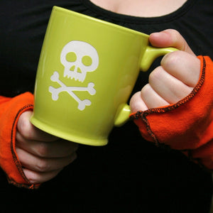 skull and bones coffee mug