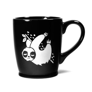 black sloth mug by Bread and Badger
