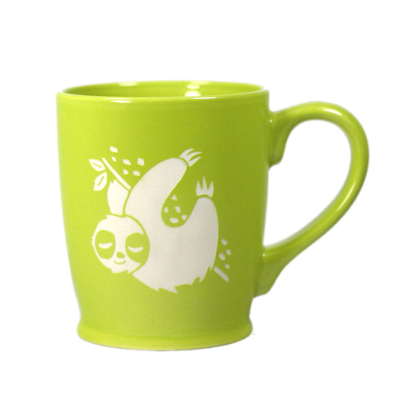 Sloth coffee mugs in green