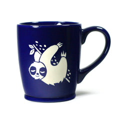Sloth coffee mugs in navy blue