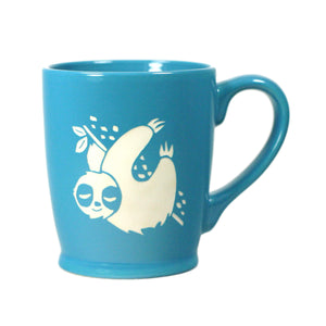 Sloth coffee mugs in sky blue