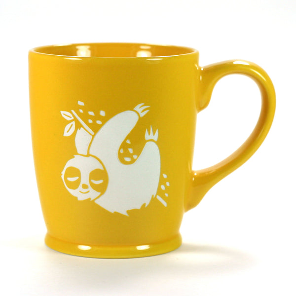 yellow gold sloth mug