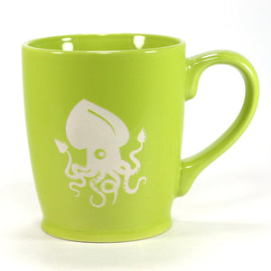 nautical squid mug, green