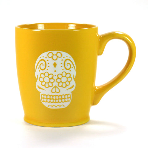 Yellow Gold Day of the Dead coffee mug