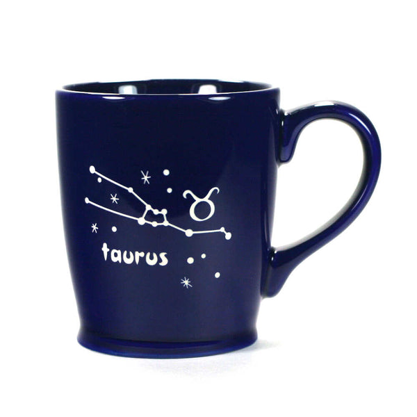 taurus constellation mug, navy blue, by Bread and Badger