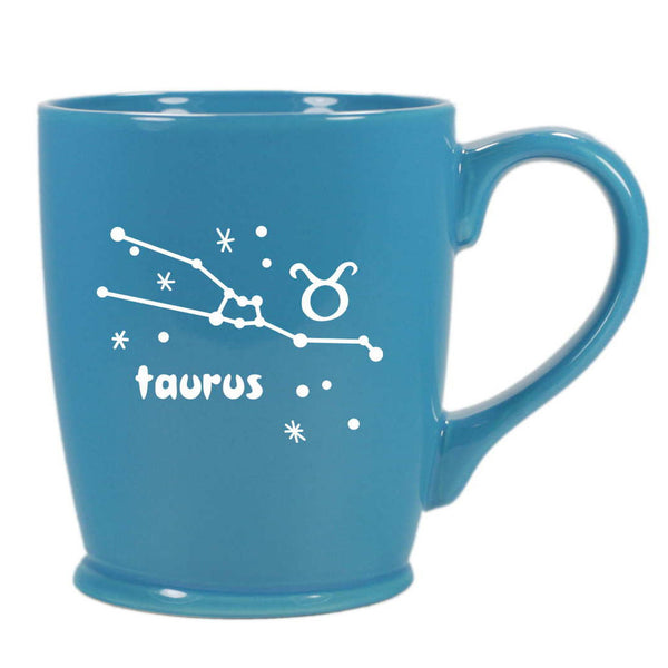 taurus constellation mug, sky blue, by Bread and Badger
