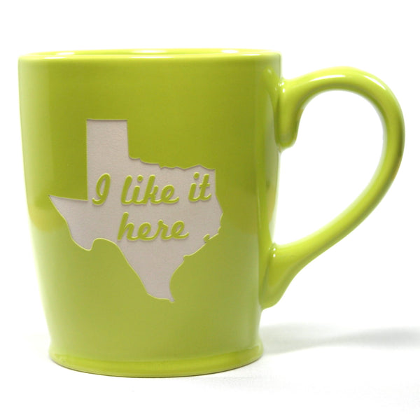 Texas state mugs in green