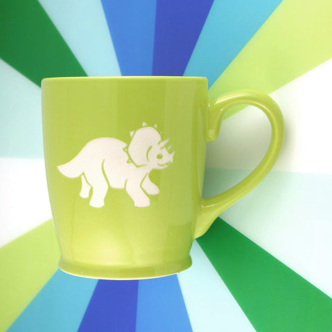 Triceratops Mug, Green (Retired)