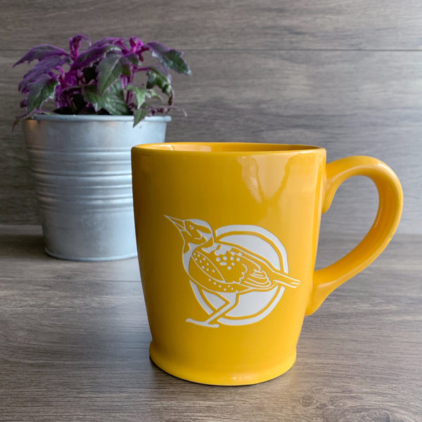Western Meadowlark mug, yellow
