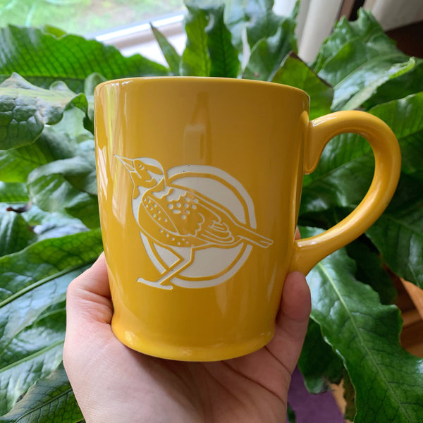 yellow western meadowlark mug