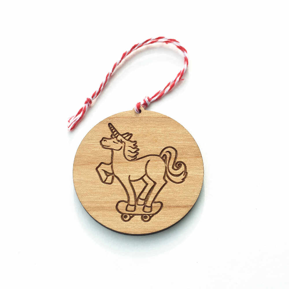 Wooden Ornament Retired Bread And Badger