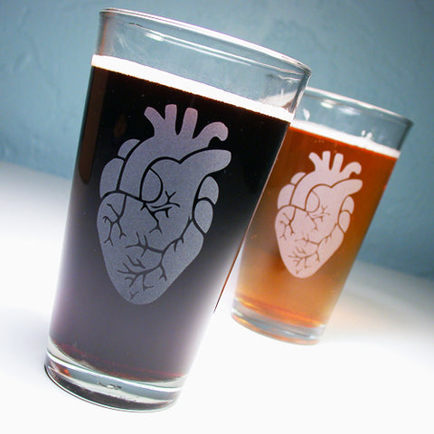 Anatomical Heart Pint Glass