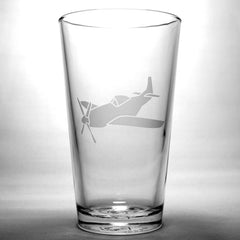 airplane pint glass