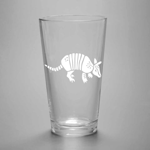 Armadillo Pint Glass (Retired)