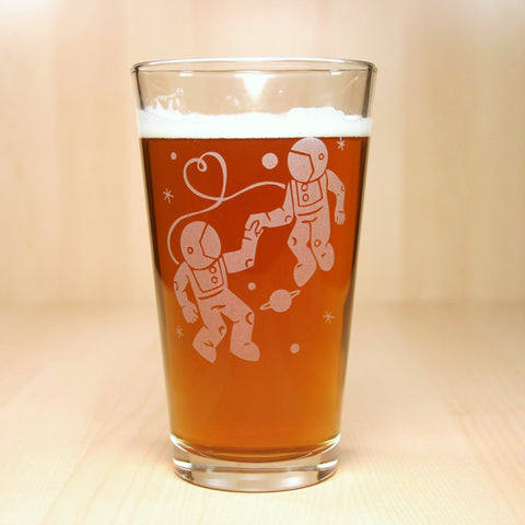 Astronaut Love Pint Glass