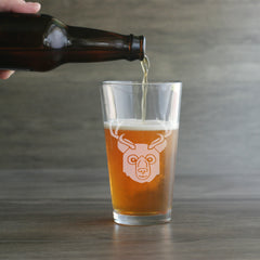 BEER Deer Bear Pint Glass