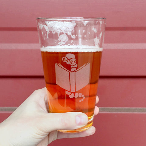 Bookworm Pint Glass