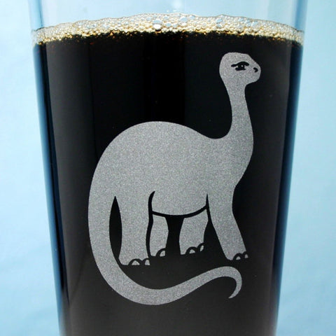 Brontosaurus Dinosaur Pint Glass (Retired)