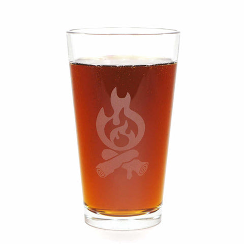 campfire pint beer glass by Bread and Badger