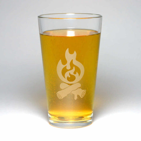 campfire pint glass by Bread and Badger