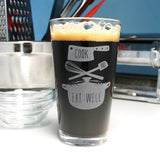 cook and eat well gourmet pint glass