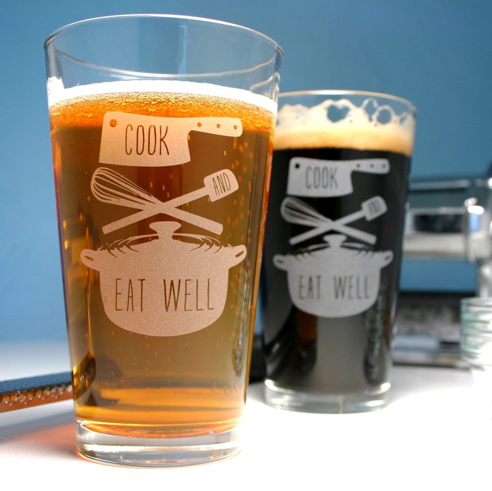 cook and eat well beer glasses