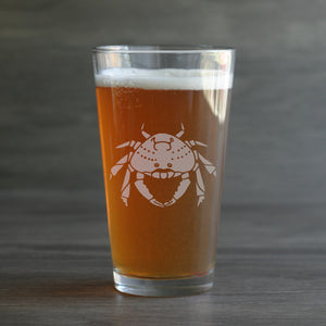 Dungeness Crab beer glass by Bread and Badger