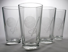 Crochet Yarn Pint Glass (Retired)