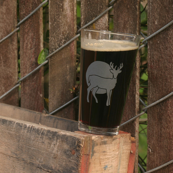 Deer beer glass by Bread and Badger