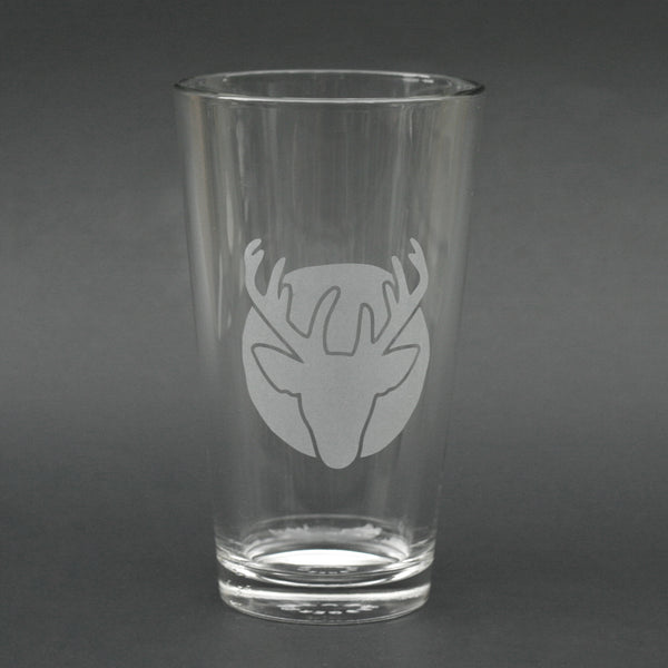 Deer Head pint glass by Bread and Badger