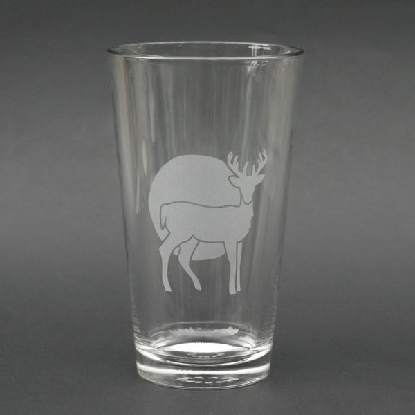 Deer pint glass by Bread and Badger