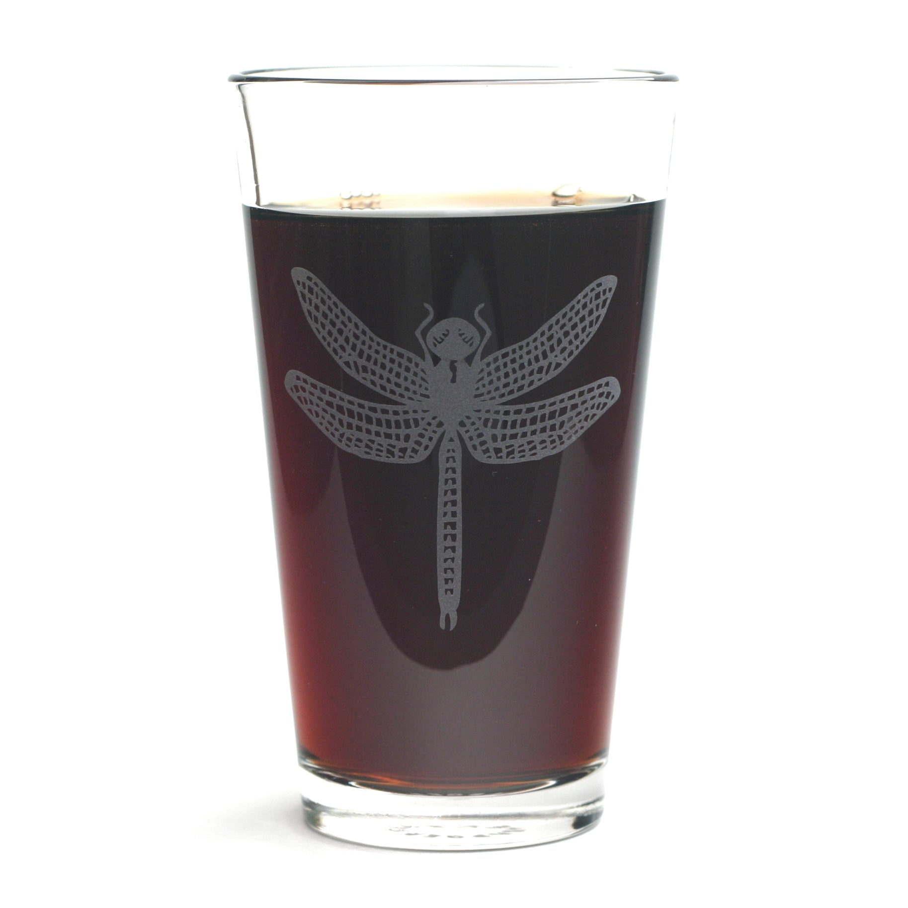 Dragonfly pint glass by Bread and Badger