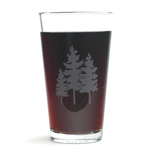 family trees pint glass by Bread and Badger
