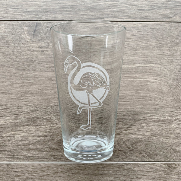 Flamingo Pint Glass