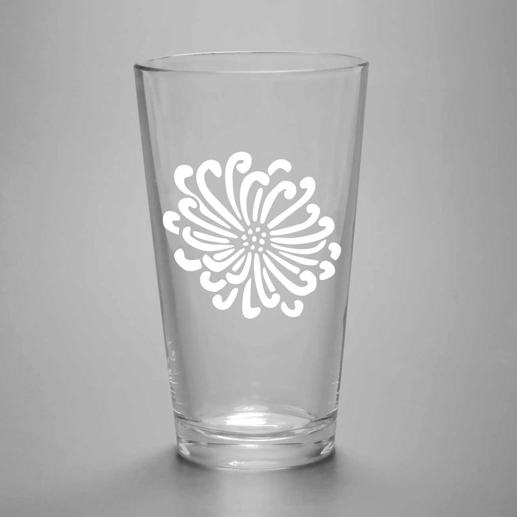 Flower Pint Glass