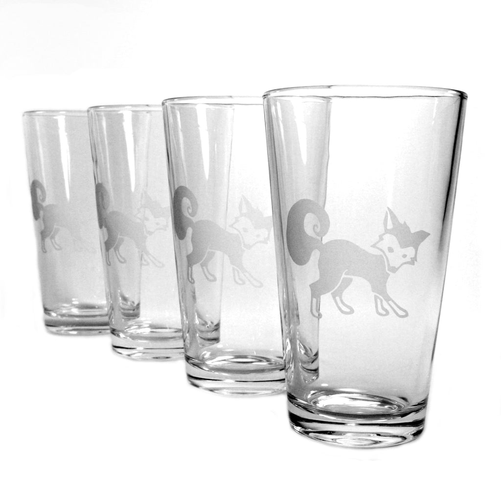 Fox Pint Glass