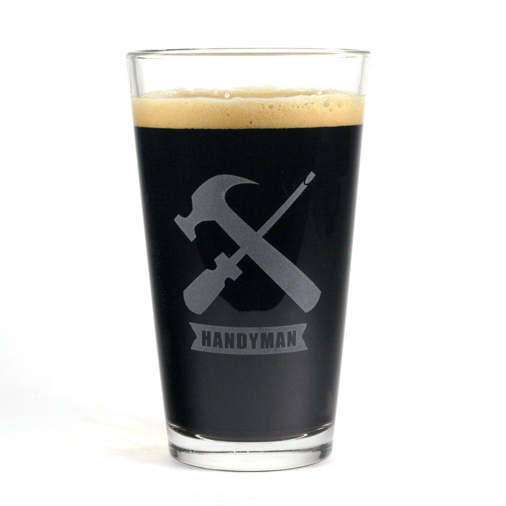 Handyman Pint Glass