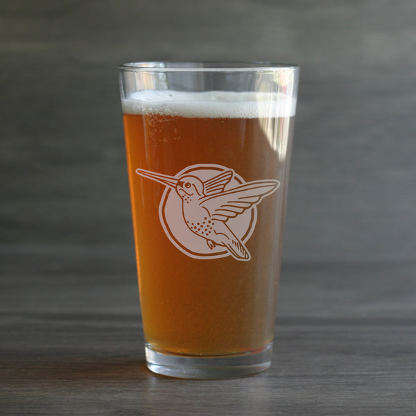 Hummingbird Pint Glass