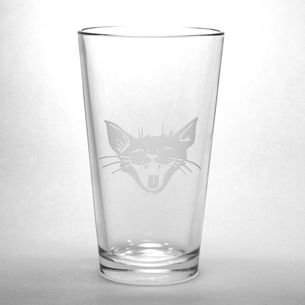 Laughing Cat Pint Glass