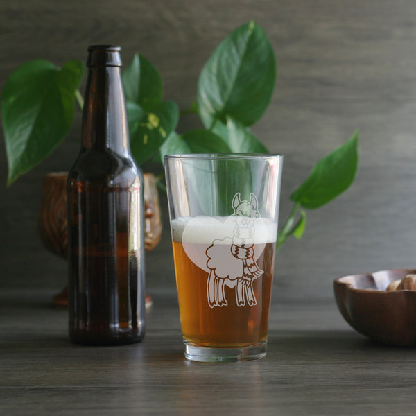 alpaca beer glass