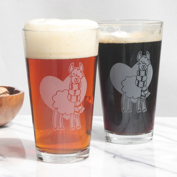 Llama beer glasses by Bread and Badger